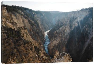 Sunrays Over Yellowstone In Color Canvas Art Print