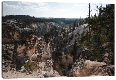 Rocky Yellowstone In Color Canvas Art Print