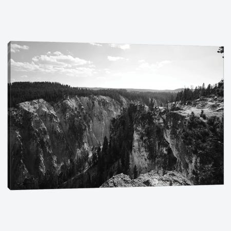 Yellowstone Cliff In Black And White Canvas Print #TEA32} by Teal Production Canvas Art Print