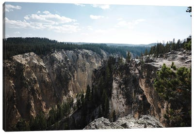 Yellowstone Cliff In Color Canvas Art Print