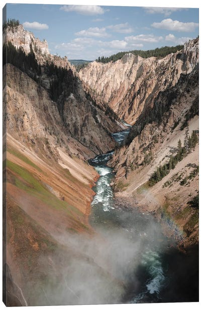 The Yellowstone In Color Canvas Art Print