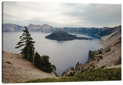 Serenity At Crater Lake In Color Canvas Art Print