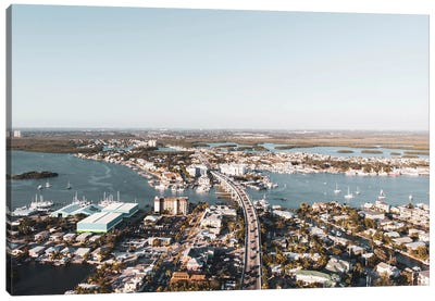 Aerial Afternoon At Fort Myers Canvas Art Print