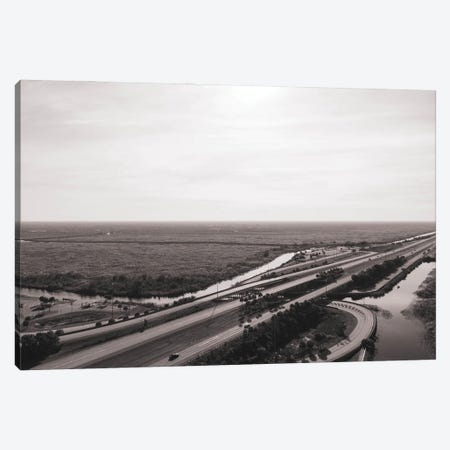 Florida Wetlands And Highway Canvas Print #TEA46} by Teal Production Art Print