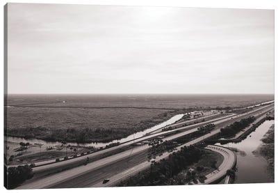 Florida Wetlands And Highway Canvas Art Print