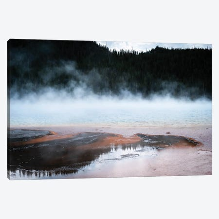 Steaming Yellowstone In Color Canvas Print #TEA6} by Teal Production Canvas Art