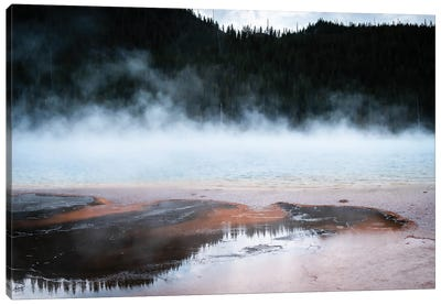 Steaming Yellowstone In Color Canvas Art Print
