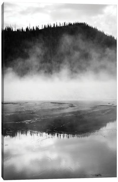 Phenomenal Yellowstone In Black And White Canvas Art Print