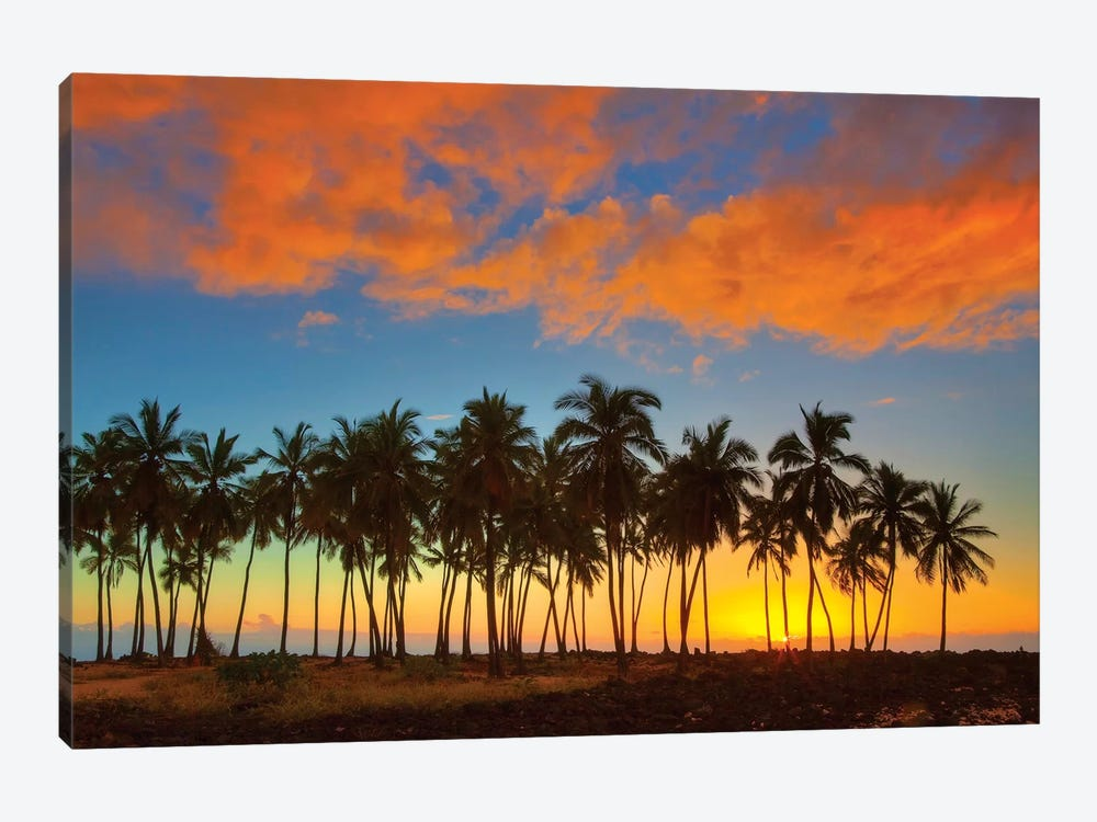 Sunset, Pu'uhonua o Honaunau National Historical Park, Big Island, Hawai'i, USA by Terry Eggers 1-piece Canvas Art