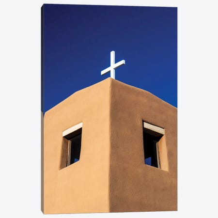 USA, New Mexico, Exterior facade of Sacred Heart Church in Nambe New Mexico Canvas Print #TEG21} by Terry Eggers Canvas Artwork