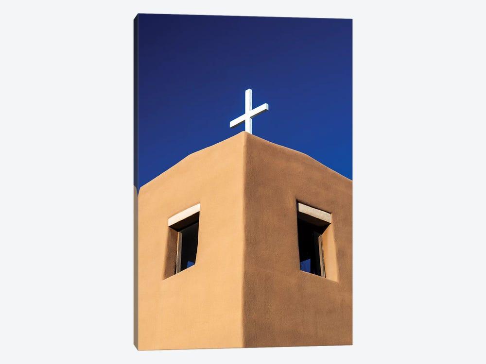 USA, New Mexico, Exterior facade of Sacred Heart Church in Nambe New Mexico by Terry Eggers 1-piece Canvas Artwork
