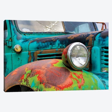 USA, Washington State, Old Colorful Field Truck in field Canvas Print #TEG24} by Terry Eggers Art Print