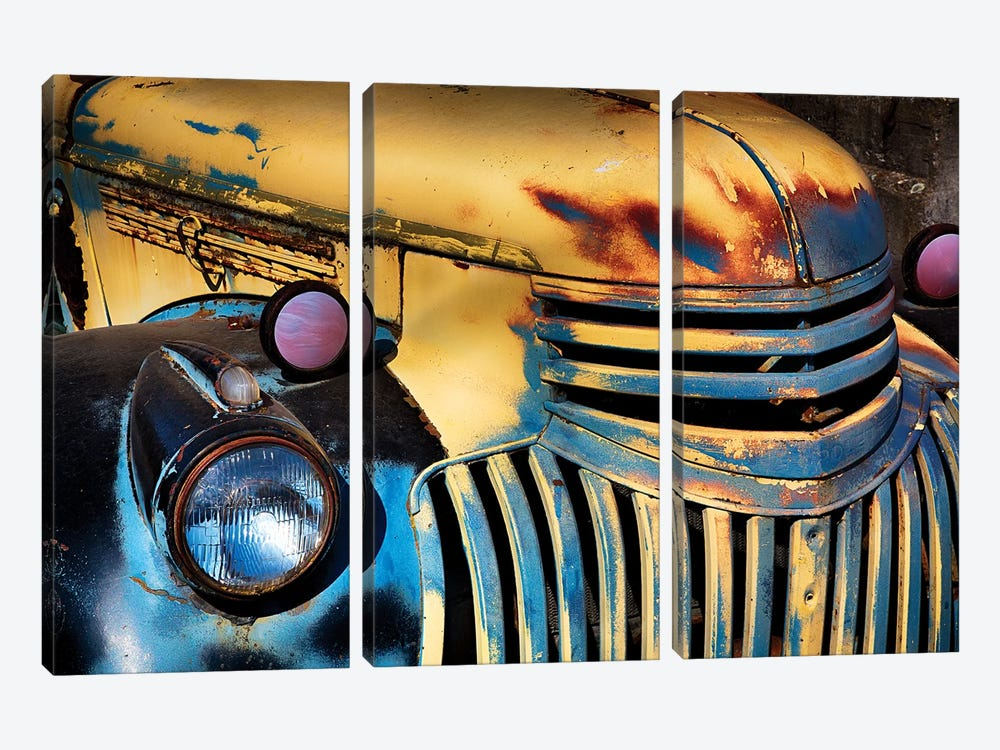 USA, Washington State, Palouse Country, Old Chevy with rust by Terry Eggers 3-piece Canvas Print