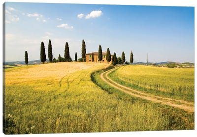 Countryside Villa, Tuscany Region, Italy Canvas Art Print