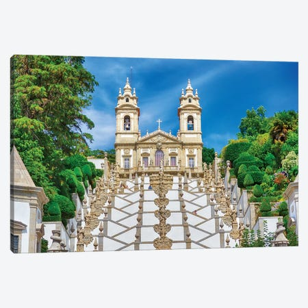 Bom Jesus do Monte complex Canvas Print #TEG40} by Terry Eggers Canvas Artwork