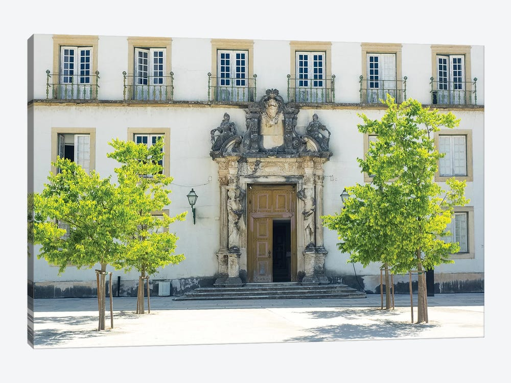 Entrance to the ancient University of Coimbra with the Via Latina colonnade by Terry Eggers 1-piece Canvas Wall Art