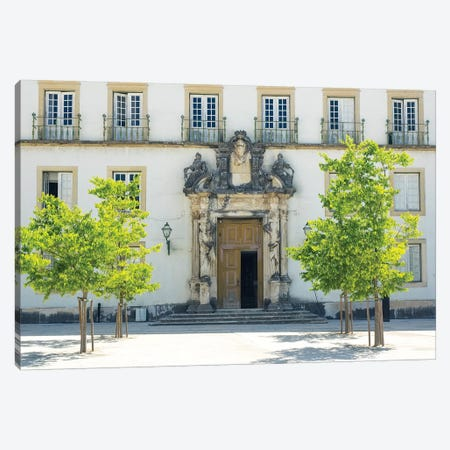 Entrance to the ancient University of Coimbra with the Via Latina colonnade Canvas Print #TEG43} by Terry Eggers Canvas Artwork