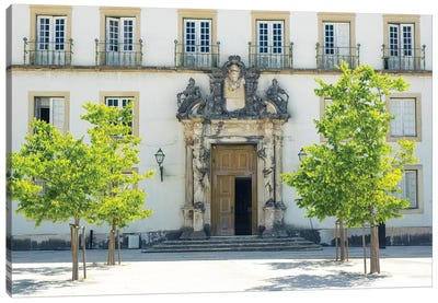 Entrance to the ancient University of Coimbra with the Via Latina colonnade Canvas Art Print