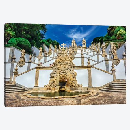 Portugal, Braga. Bom Jesus do Monte 3-Piece Canvas #TEG46} by Terry Eggers Art Print
