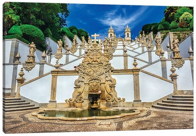 Portugal, Braga. Bom Jesus do Monte Canvas Art Print