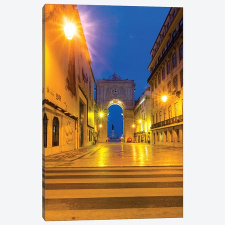 Portugal, Lisbon. Entrance of Praca Do Comercio Canvas Print #TEG49} by Terry Eggers Canvas Art