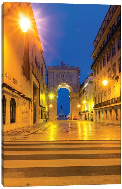 Portugal, Lisbon. Entrance of Praca Do Comercio Canvas Art Print
