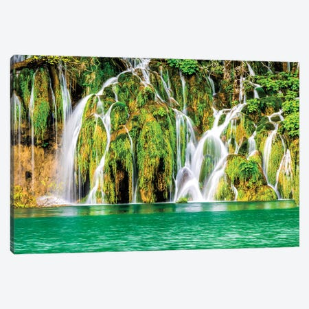 Waterfalls in the Parco Nazionale dei laghi di Plitvice Canvas Print #TEG71} by Terry Eggers Canvas Art Print