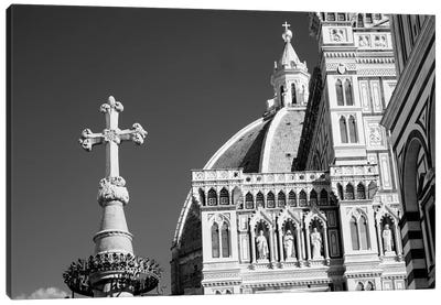 Italy, Florence. Infrared image of Santa Maria del Fiore on a sunny day. Canvas Art Print