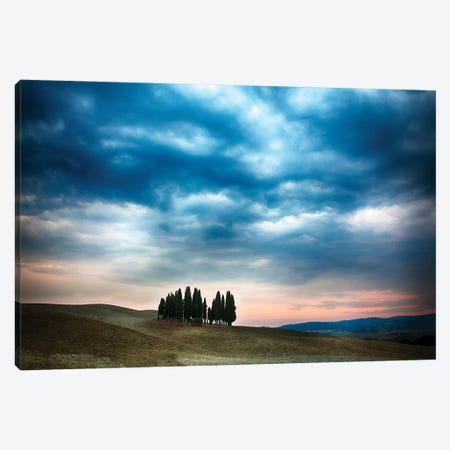 Cloudy Countryside Landscape, Siena Province, Tuscany Region, Italy Canvas Print #TEG8} by Terry Eggers Canvas Print