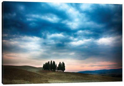 Cloudy Countryside Landscape, Siena Province, Tuscany Region, Italy Canvas Art Print