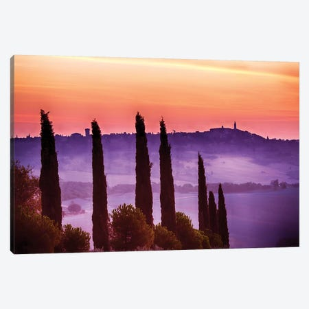 Morning Fog, Siena Province, Tuscany Region, Italy Canvas Print #TEG9} by Terry Eggers Canvas Print