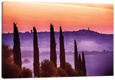 Morning Fog, Siena Province, Tuscany Region, Italy Canvas Art Print