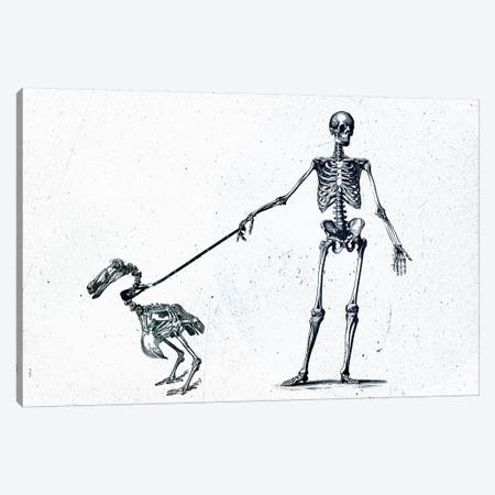 Walking My Dodo Canvas Print #TEI107} by Teis Albers Canvas Artwork