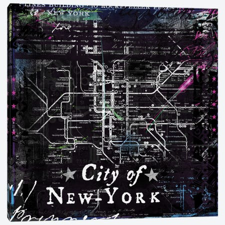 City Of New York Canvas Print #TEI11} by Teis Albers Canvas Print
