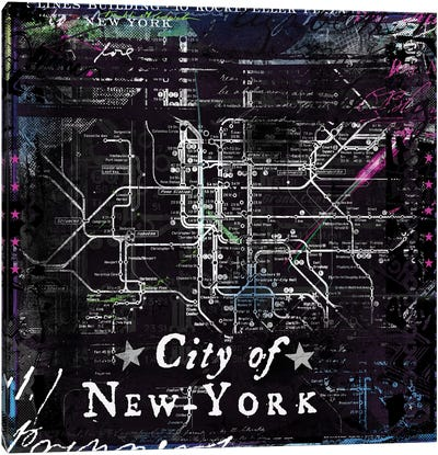 City Of New York by Teis Albers Canvas Art Print