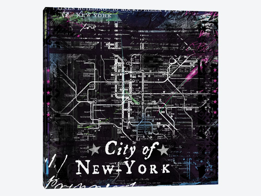 City Of New York by Teis Albers 1-piece Canvas Wall Art