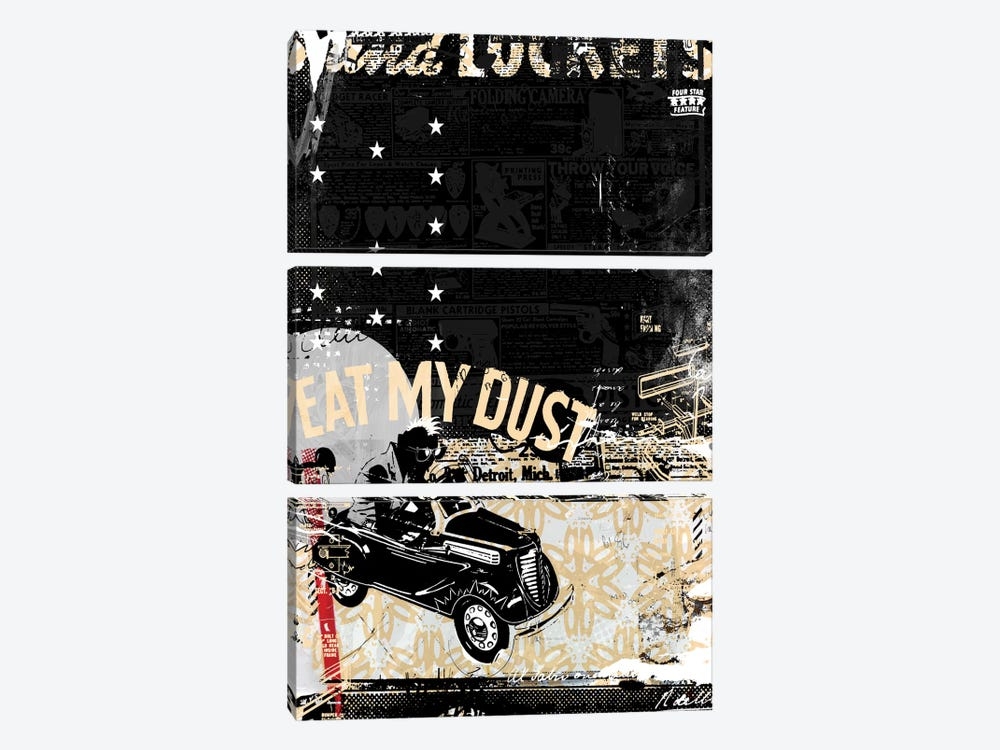 Eat My Dust by Teis Albers 3-piece Canvas Wall Art