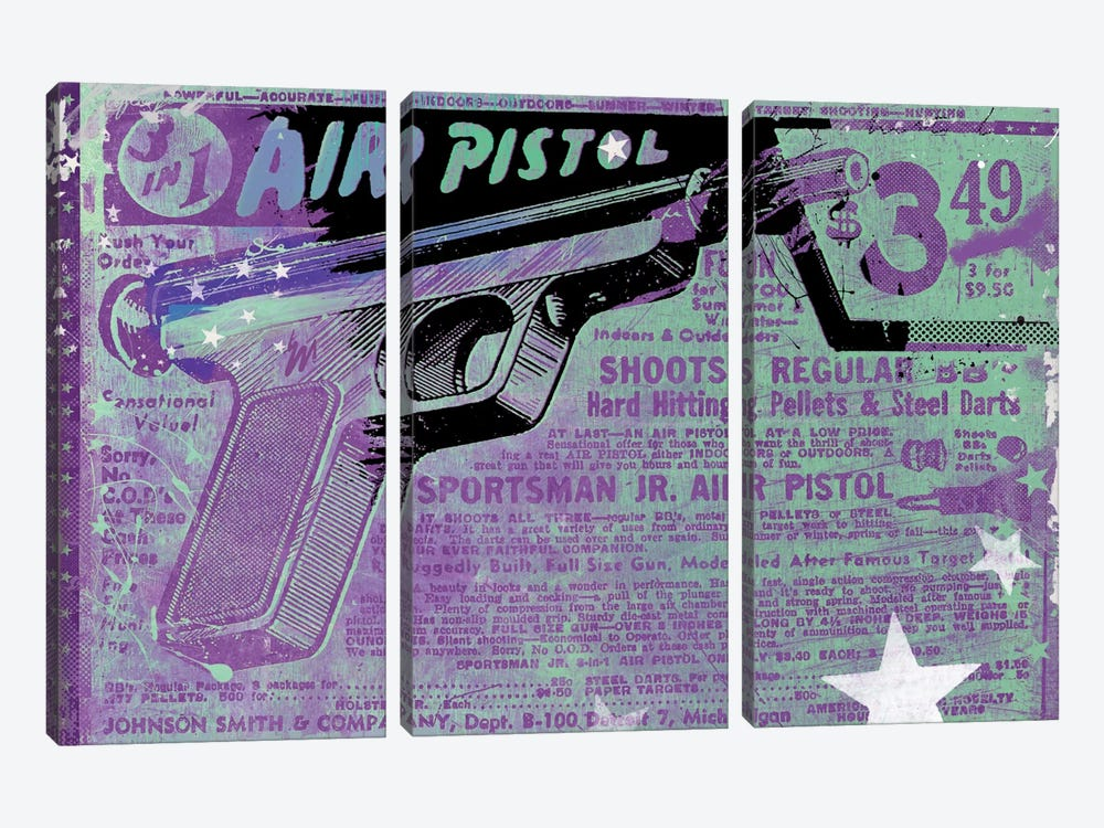 Air Pistol by Teis Albers 3-piece Canvas Print