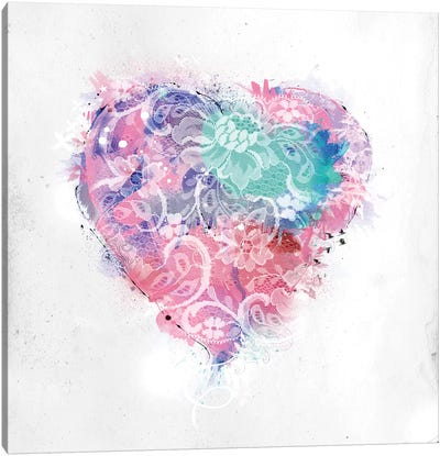 Lace Heart Canvas Print #TEI26