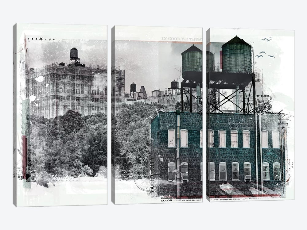 NY by Teis Albers 3-piece Canvas Print