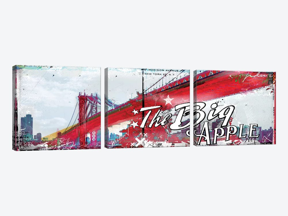 The Big Apple by Teis Albers 3-piece Canvas Art Print