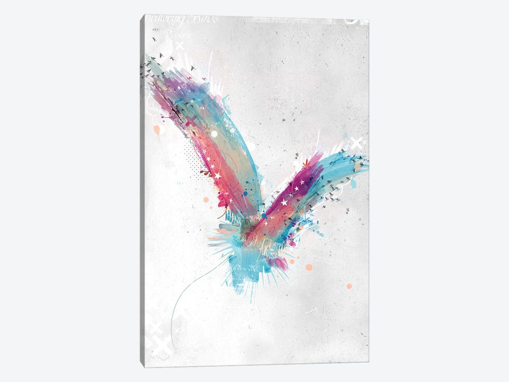 Watercolour Bird by Teis Albers 1-piece Canvas Print