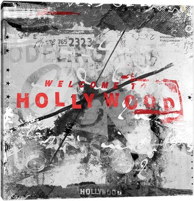 Welcome To Hollywood Canvas Art Print