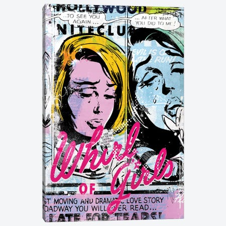 Whirl Of Girls Canvas Print #TEI45} by Teis Albers Art Print
