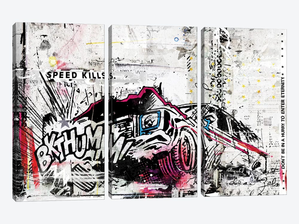 BKTHUMM! by Teis Albers 3-piece Canvas Artwork