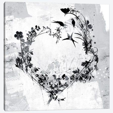Floral Heart Canvas Print #TEI97} by Teis Albers Canvas Artwork