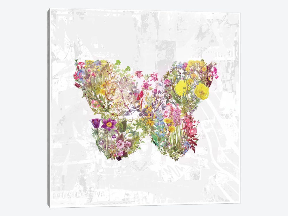 Butterfly Of Flowers by Teis Albers 1-piece Canvas Print
