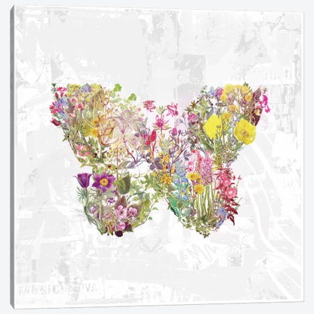 Butterfly Of Flowers Canvas Print #TEI9} by Teis Albers Canvas Print