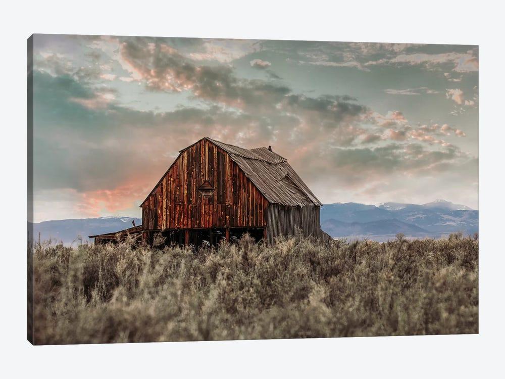 Colorado Barn At Sunset by Teri James 1-piece Canvas Art Print
