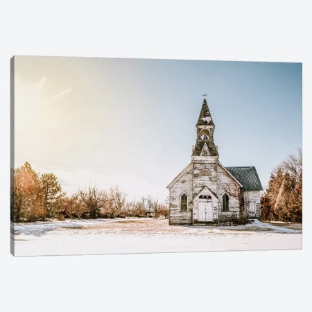 Old White Church Canvas Print #TEJ61} by Teri James Art Print